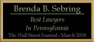 Brenda B. Sebring Best Lawyers in Pennsylvania Wall Street Journal March 2018