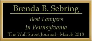 Brenda B. Sebring Best Lawyers in Pennsylvania Wall Street Journal March 2018