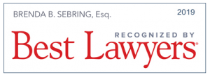 Brenda S. Sebring, Esq. 2019 Recognized by Best Lawyers