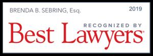 Brenda S. Sebring, Esq. 2019 Recognized by Best Lawyers