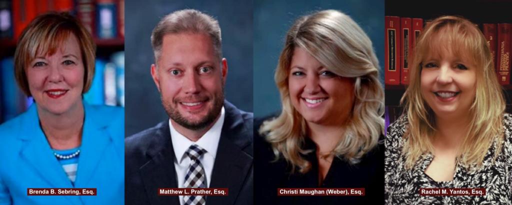 Brenda B. Sebring, Esq., Matthew L. Prather, Esq., Christi Maughan (Weber), Esq., Rachel M. Yantos, Esq.