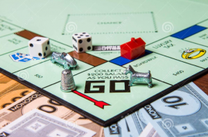 monopoly board showing Go corner space